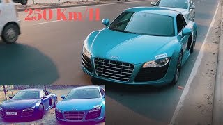 Speeding Audi R8 in Delhi | Supercars in India