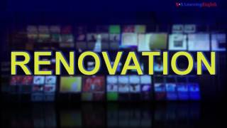 News Words: Renovation