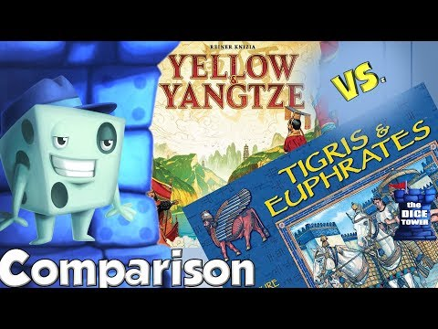 Yellow & Yangtze vs.  Tigris & Euphrates Comparison - with Tom Vasel