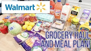 WalMart Grocery Haul and Meal Plan for a Family of 4! What's for Dinner this Week? Working Mom Meals