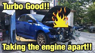 Rebuilding a Totaled Burned 2015 Subaru Wrx STI Part 3