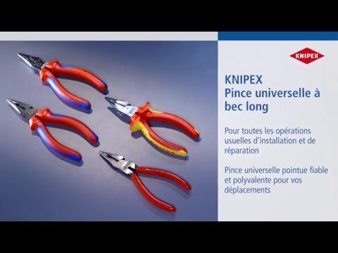 KNIPEX Pince universelle à becs demi-ronds