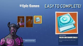 """How To Complete The """"FALLEN LOVE RANGER CHALLENGES"""" In (Fortnite Battle Royale)"""