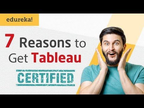 7 Reasons To Get Tableau Certified | Tableau Certification I Tableau ...