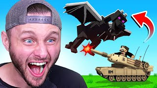 BEATING Minecraft with a TANK (FUNNY)
