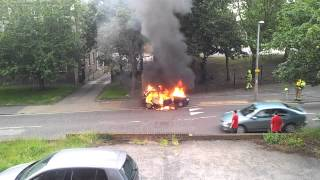 preview picture of video 'CAR FIRE  - BRADLEIGH AVENUE GRAYS ESSEX 25.06.12'