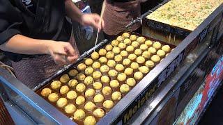 Japanese Street Food Takoyaki Octopus Balls