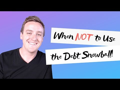 When NOT to use debt snowball