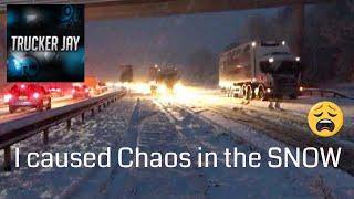 Trucker Jay in the UK:S5E22 Truck going Snow-where