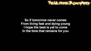 Three Days Grace - Time That Remains [Lyrics on screen] HD