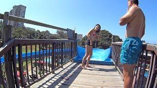 Big Blue water park slide at Splash Waterworld aqua park in Durban, South Africa.  Facebook ► https://www.facebook.com/AmusementForce Website ► http://www.AmusementForce.com Twitter ► https://twitter.com/AmusementForce Instagram ► https://www.instagram.com/Amusement.Force