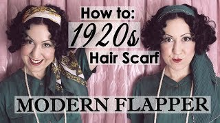 How To Tie A Vintage 1920s Style Hair Scarf - A Modern Flapper Or Gatsby Hair Scarf Tutorial
