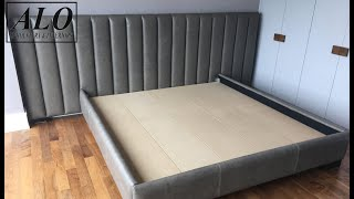 DIY - HOW TO UPHOLSTER A CHANNEL HEADBOARD| DIY - ALO Upholstery