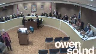 preview picture of video 'City of Owen Sound October 6, 2014 Council Meeting'