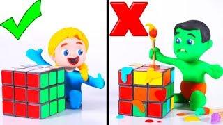 Rubik Cube Challenge ❤ Cartoons For Kids