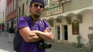 preview picture of video 'アキーラさん散策⑥チェコ・チェスキークルムロフ市街Cesky-Krumlov,Czech'