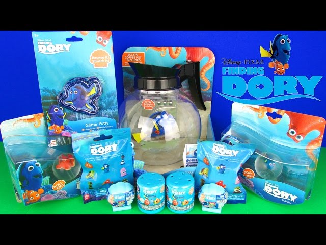 Ultimate Finding Dory Toys Surprises Unboxing Mahems Squishy Pops Blind Bags Robofish Party Nemo