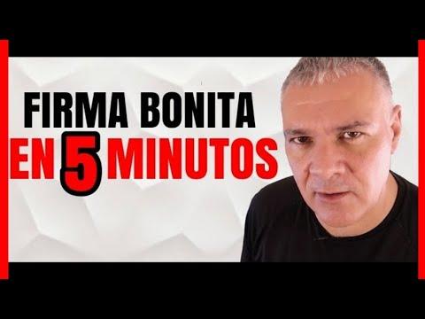 TIPS PARA HACER Y TENER UNA FIRMA BONITA EN 5 MINUTOS CON MI TUTORIAL