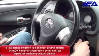 Toyota Corolla, Auris, Yaris, Hilux 4D-67 Transponder (DST 4D) Manuel Kumanda Programlama Prosedürü