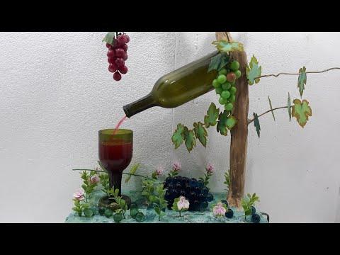 Fonte Cascata com garrafas