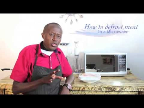 How to Defrost Meat using a Microwave Oven(HD)