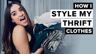HOW I STYLE MY THRIFT CLOTHES + RIP MY JEANS   Sofia Conte