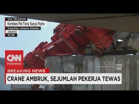 Kronologis Ambruknya Crane di Jatinegara, Jakarta