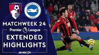 Bournemouth v. Brighton | PREMIER LEAGUE HIGHLIGHTS | 1/21/2020 | NBC Sports