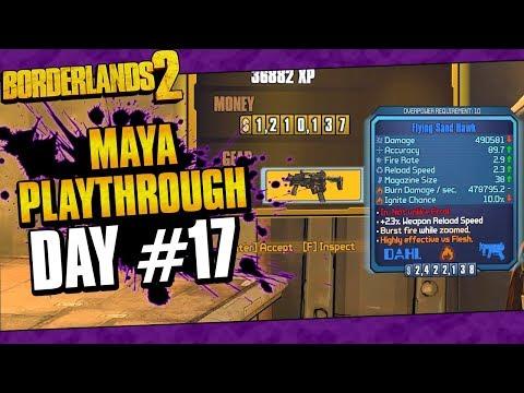 Borderlands 2 | Maya Reborn Playthrough Funny Moments And Drops | Day #17