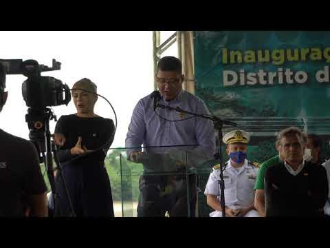 Pronunciamento do governador Marcos Rocha na solenidade de inauguração da ponte sobre o rio Madeira no distrito de Abunã em Porto Velho