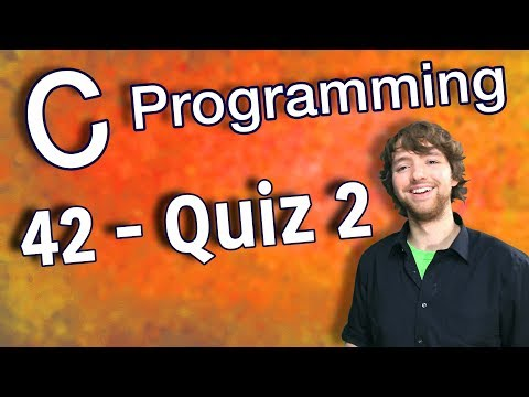 C Programming Tutorial 42 – Quiz 2