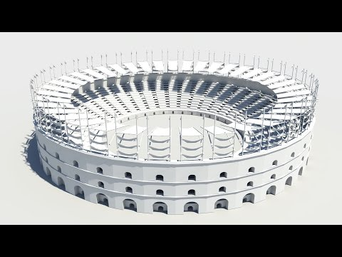Maya 2014 tutorial : How to model a Gladiator Arena