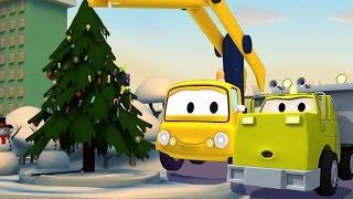 Строительная Бригада: Самосвал, Кран и Экскаватор строят Рождественская ель | SPECIAL рождество