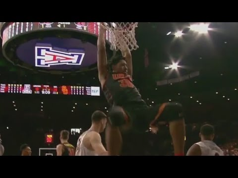 USC Guard Elijah Stewart Treats Rim Like Jungle Gym On Dunk | CampusInsiders