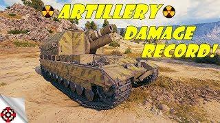 World of Tanks - Artillery DAMAGE RECORD! (WoT artillery gameplay)