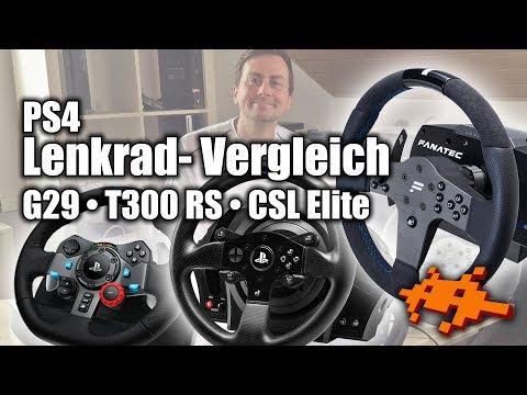 PS4 Lenkrad-Vergleich: Logitech G29 vs Fanatec CSL Elite vs Thrustmaster T300RS