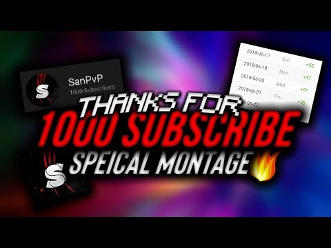 Thanks For 1000 Subscribers ( montage )