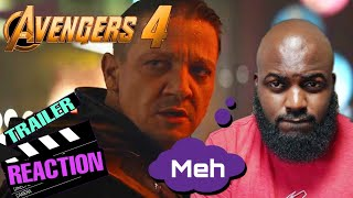 Avengers 4 Official UNDERWHELMING Teaser Trailer Reaction! Marvel and the trend of bad trailers.