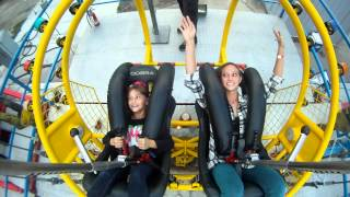 Fearless 8 Year Old Rides The Slingshot