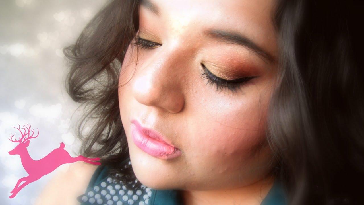 Tutorial -  Maquillaje festivo (dorado)