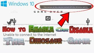 Chrome Dinosaur Game: How to turn OFF AND ON (Teachers and Students will love this)