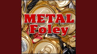 Metal, Lid - Trash Can Lid Spin and Fall Metal Impacts, Metal Foley, Roll & Spin Foley