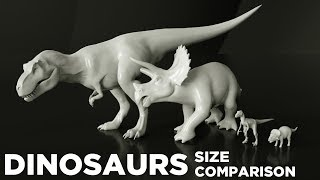 Dinosaurs size Comparison