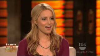 Lopez Tonight - Dianna Agron Interview & Sings   I Say A Little Prayer  With George Lopez