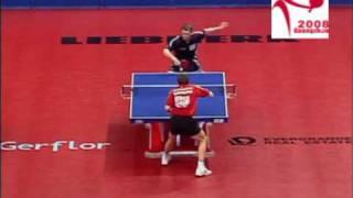 Werner Schlager vs Jörg Roßkopf (2008 WTTTC)