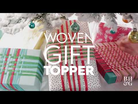 Woven Gift Topper | Made By Me - Crafts| Better Homes & Gardens