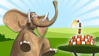 Газун звериные приключения - Занятия спортом Мультики для детей на русском