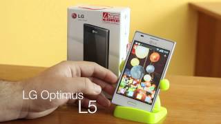 LG Optimus L5 unboxing y primera vista