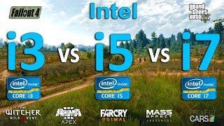 Intel i3 vs i5 vs i7 Test in 7 Games