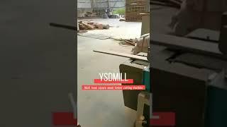 Sawmill woodworking multi head horizontal band resaw timber cutting